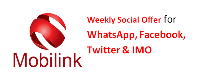 Jazz Weekly Social Offer for WhatsApp, Facebook, Twitter & IMO