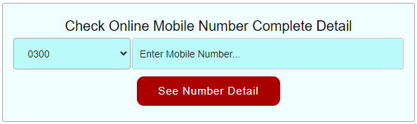 SIM Owner Name by Mobile Number in Pakistan